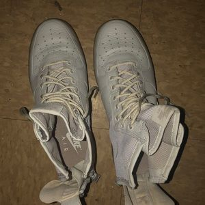 I am selling Air Forces in a white/freakish color